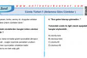 Cümle Türleri-1 (Anlamına Göre Cümleler) İle İlgili PDF Test