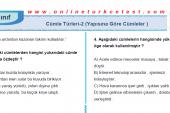 Yapısına Göre Cümleler İle İlgili PDF Test İndir