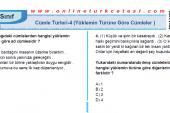Cümle Türleri-4 ( Yüklemin Türüne Göre Cümleler ) İle İlgili PDF Test