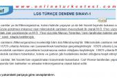 8. Sınıf Türkçe Dersi LGS Deneme Sınavı-1 PDF İndir