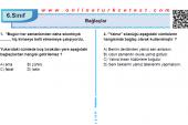 Bağlaçlar İle İlgili PDF Test İndir