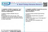 6. Sınıf Türkçe Dersi Deneme Sınavı-1