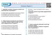 Cümlenin Ögeleri-1 PDF Test İndir