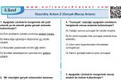 Sözcükte Anlam-2 (Gerçek-Mecaz Anlam) İle İlgili PDF Test İndir
