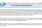 LGS Türkçe Deneme Sınavı-3