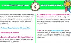 Anlatım Bozuklukları (Konu Anlatım- Test – Etkinlikler) PDF İndir