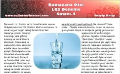 Ramazana Özel LGS Deneme Sınavı-4