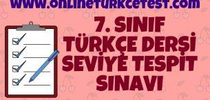 7. Sınıfa Geçenler İçin Türkçe Hazırbulunuşluk Sınavı