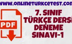 7. Sınıf Türkçe Dersi Deneme-1
