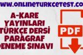 A-Kare Yayınları LGS Paragraf Denemesi İndir