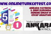 Ankara Yayıncılık 5. Sınıf 1. Kurumsal Deneme Sınavı