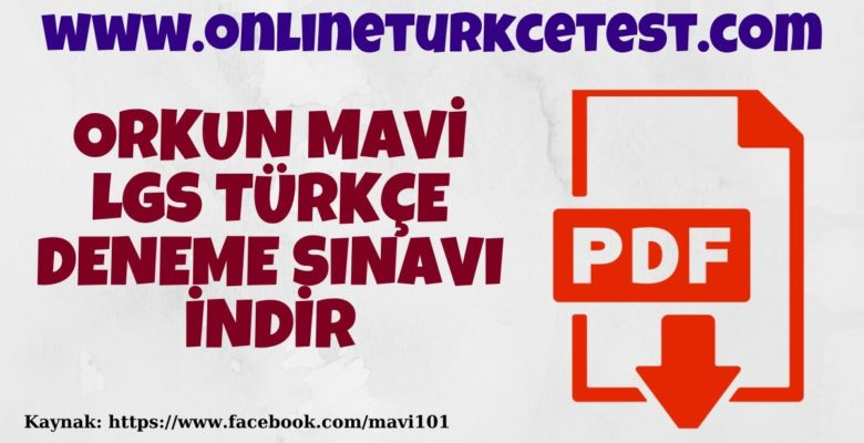 Orkun Mavi-LGS Türkçe Deneme Sınavı-1