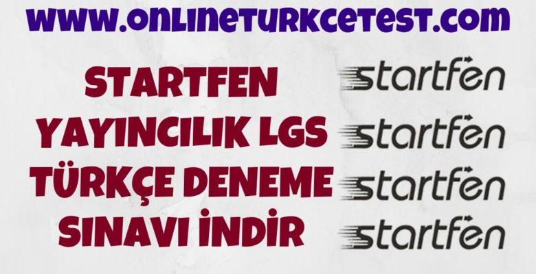 Startfen Yayıncılık 8. Sınıf LGS Türkçe Deneme Sınavı İndir