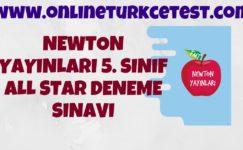 Newton Yayınları 5. Sınıf All Star Deneme Sınavı