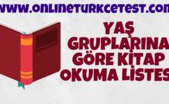 Yaş Gruplarına Göre Değişik Edebiyat Türlerinden Oluşan Okuma Listesi