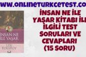 İnsan Ne İle Yaşar Kitabı İle İlgili Online Test (36 Soru)