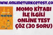 Momo Kitabı İle İlgili Test (30 Soru)